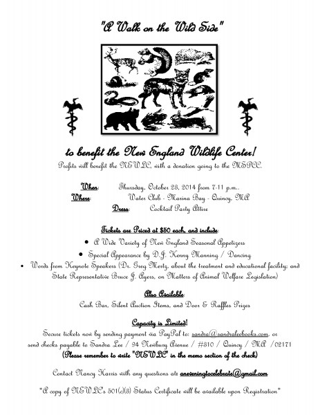 A walk on the wild side fundraiser flyer